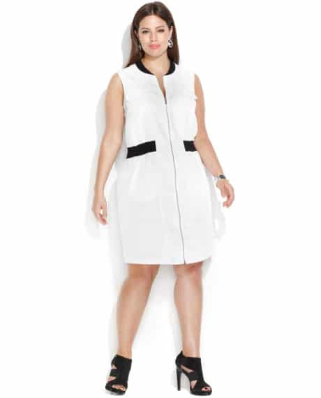 Calvin-Klein-Plus-Size-Sleeveless-Zip-Front-Shirtdress