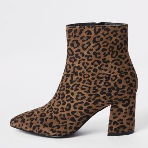 2169c2382d2 Glomorous Brown Wide Fit Leopard Printankle Wide Width Booties Fall Curvy  Fashionista Wide Width Ankle Boots