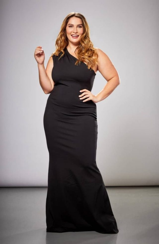 Dress the Population Eva One-Shoulder Plus Size Gown
