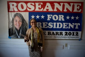 Comedian Roseanne Barr on the campaign trail during her run for president of the United States. Photographer: Jayme Roy