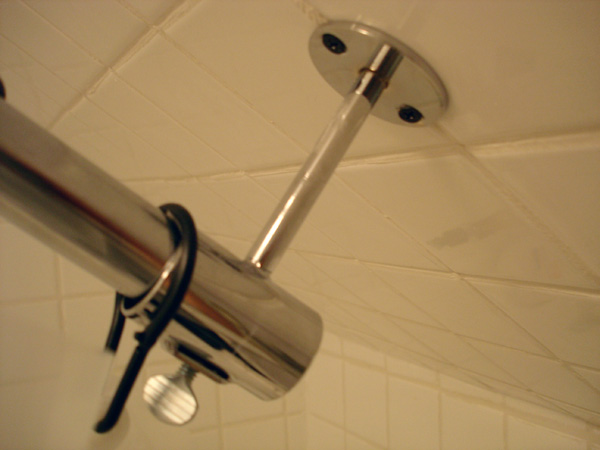 our slanted ceiling shower solution