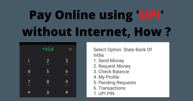 Pay Online using 'UPI' without Internet, How ?