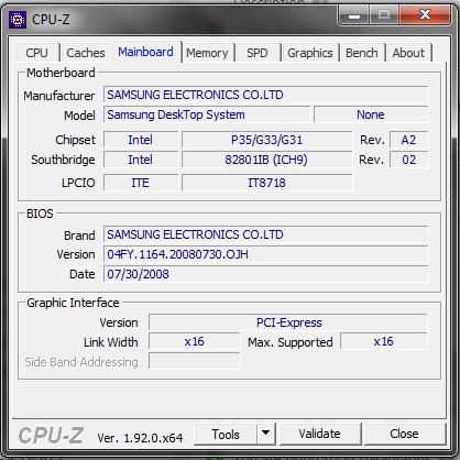 CPU-Z (CPUZ CPU Z CPU ID CPUID) - Motherboard Details
