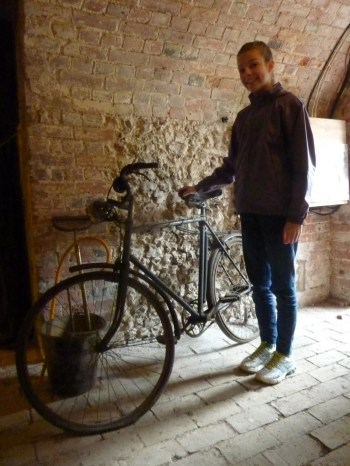 WW2 bike in the Ice House Bunker