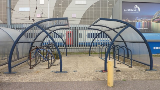 Older cycle racks are less attractive
