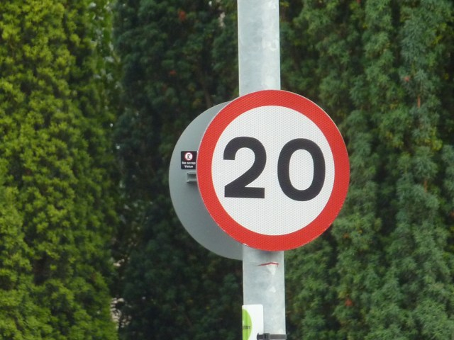 20 mph speed limit signs appearing more