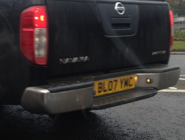 Blogger's number plate (almost?)