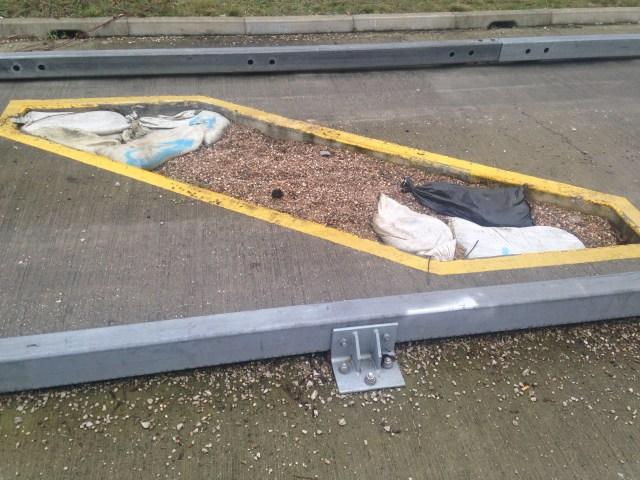 Busway car trap
