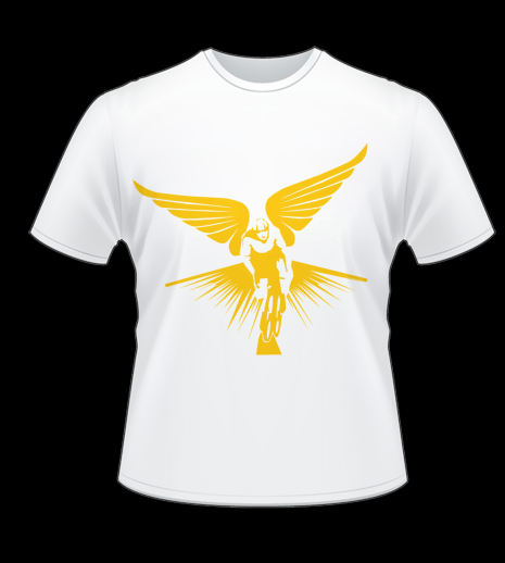 Winged Cyclist T-Shirt Mock Up