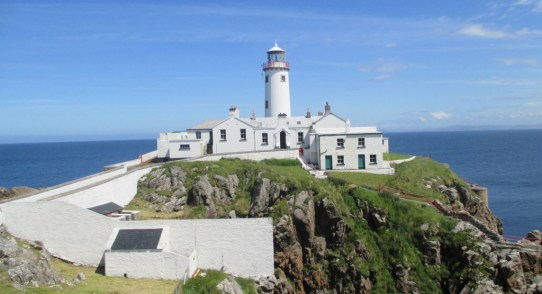 Fanad Lighthouse with Malin Head off in the distance
