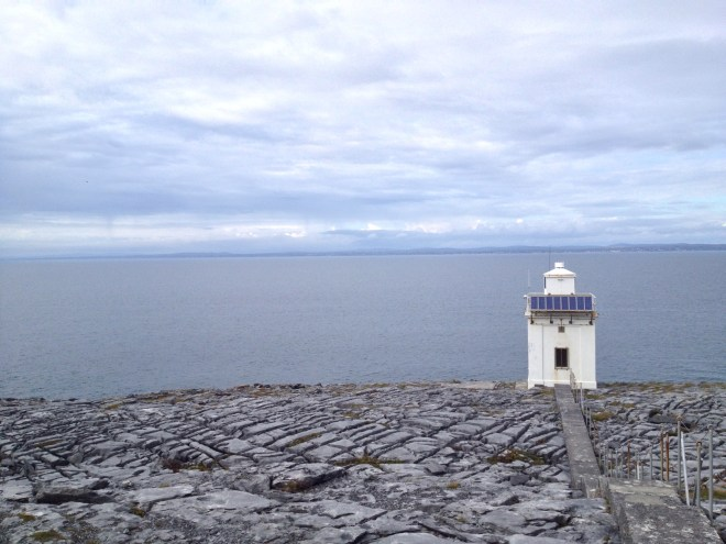 The odd lighthouse along the coast contrasted well with the Rocky landscape
