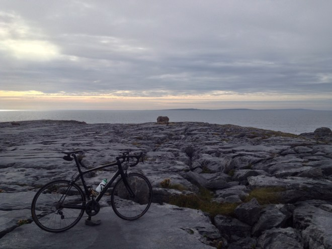 Looking out to sea towards the Aran Islands