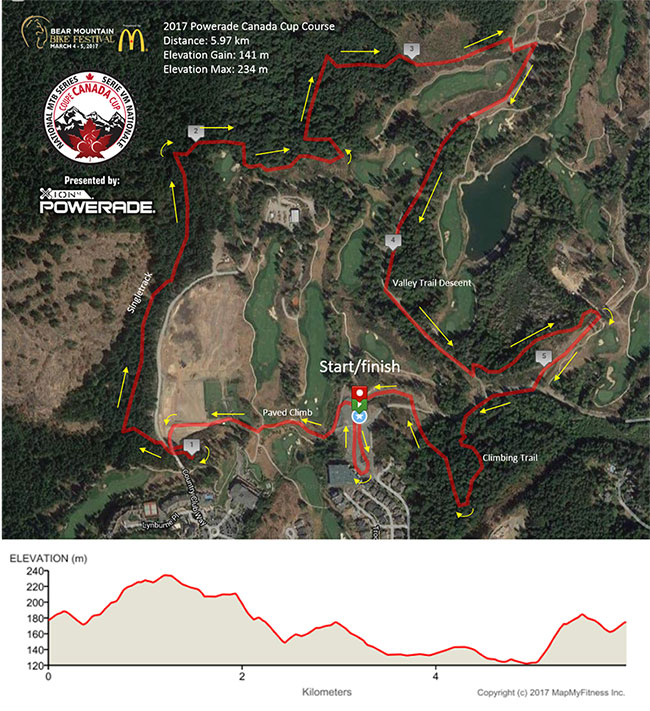 2017 Canada Cup Map at Bear Mountain