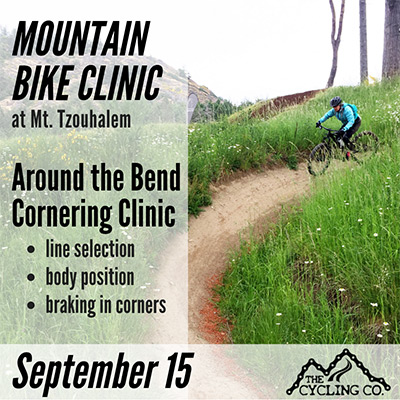 Mountain Bike Cornering Clinic Tzouhalem- Sept 15