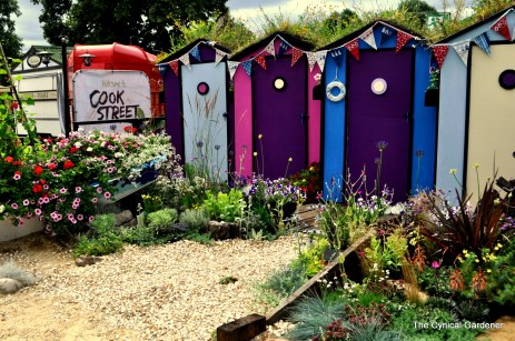Bright and colourful plantings with shingle paths