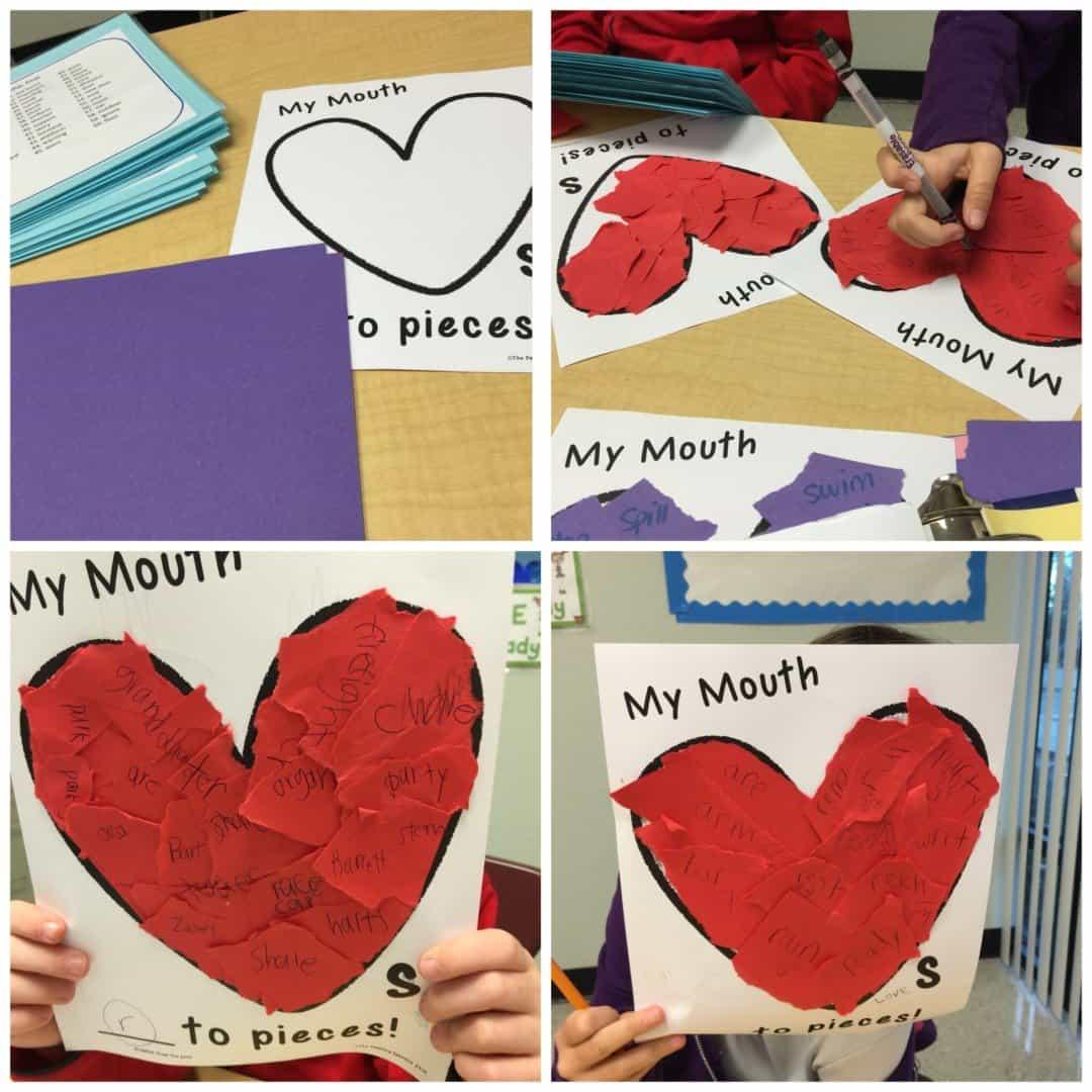 Valentine Speech Therapy Craft