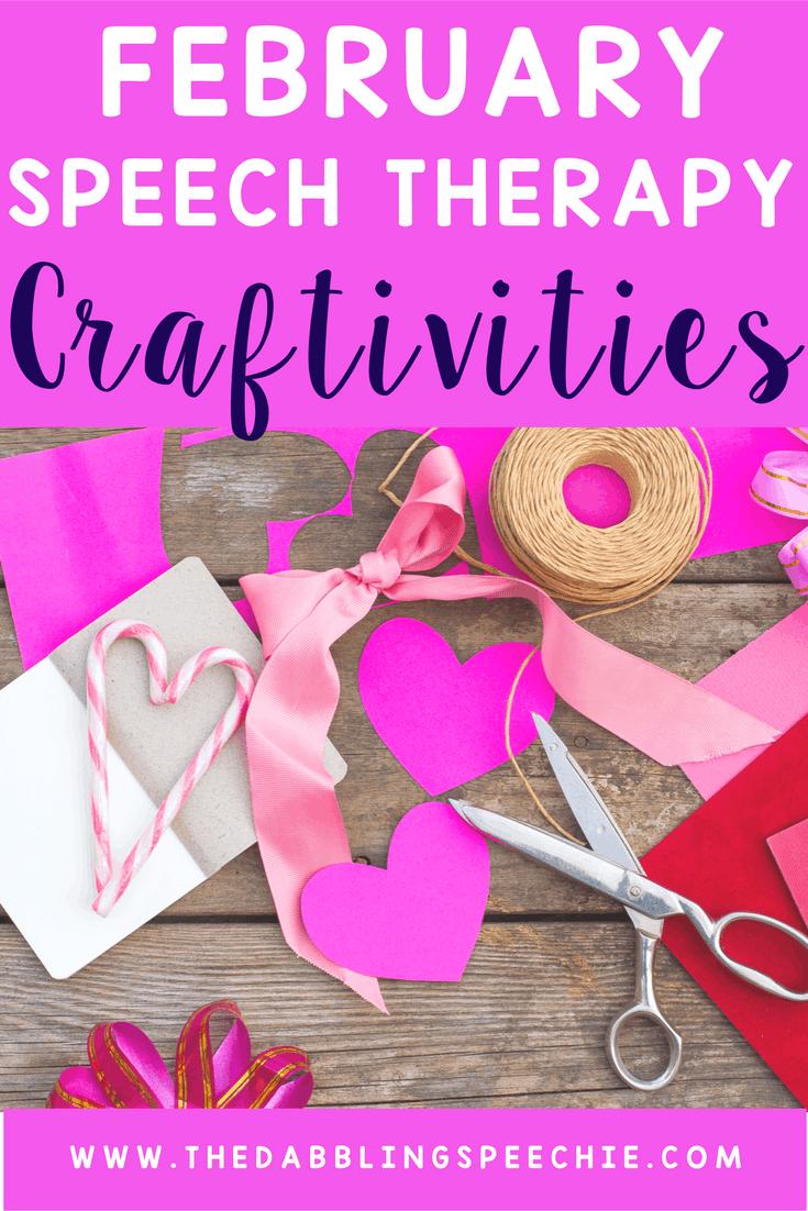 February Speech Therapy Craftivities Thedabblingspeechie
