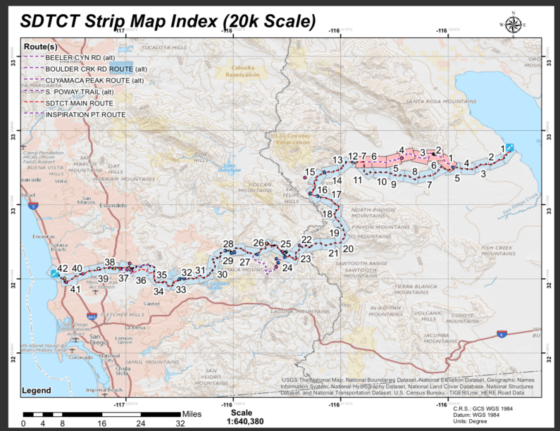Map Trans San Diego Trail