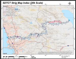 Map Trans San Diego Trail