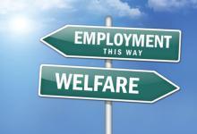 welfare-employment-street-sign