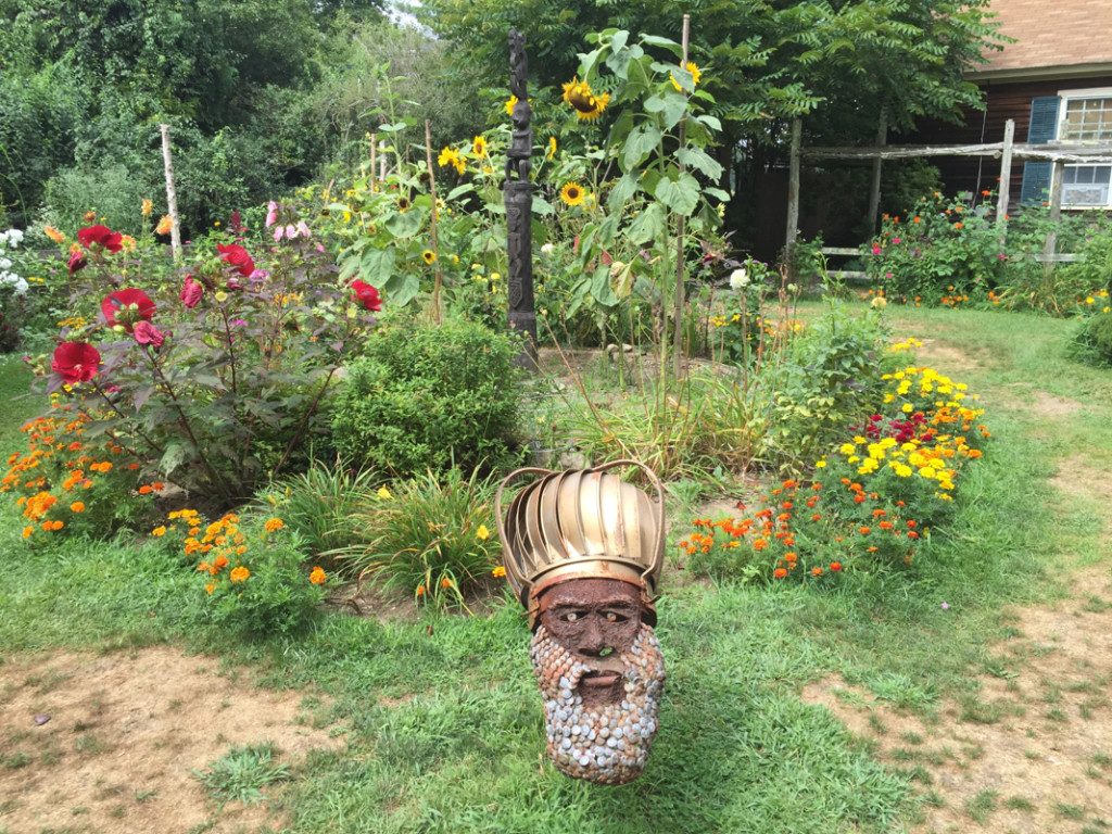The gardens of the Fantastic Umbrella Factory in south county ri