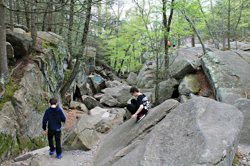 Family bouldering in Massachusetts. moderate hikes for families in Massachusetts
