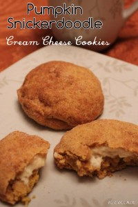Pumpkin Snickerdoodle Cream Cheese Cookies