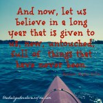 Thursday Travel Quote: A New Year