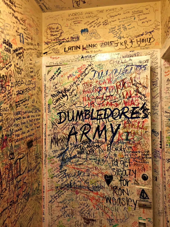 Bathroom of the Elephant House, Edinburgh, Scotland
