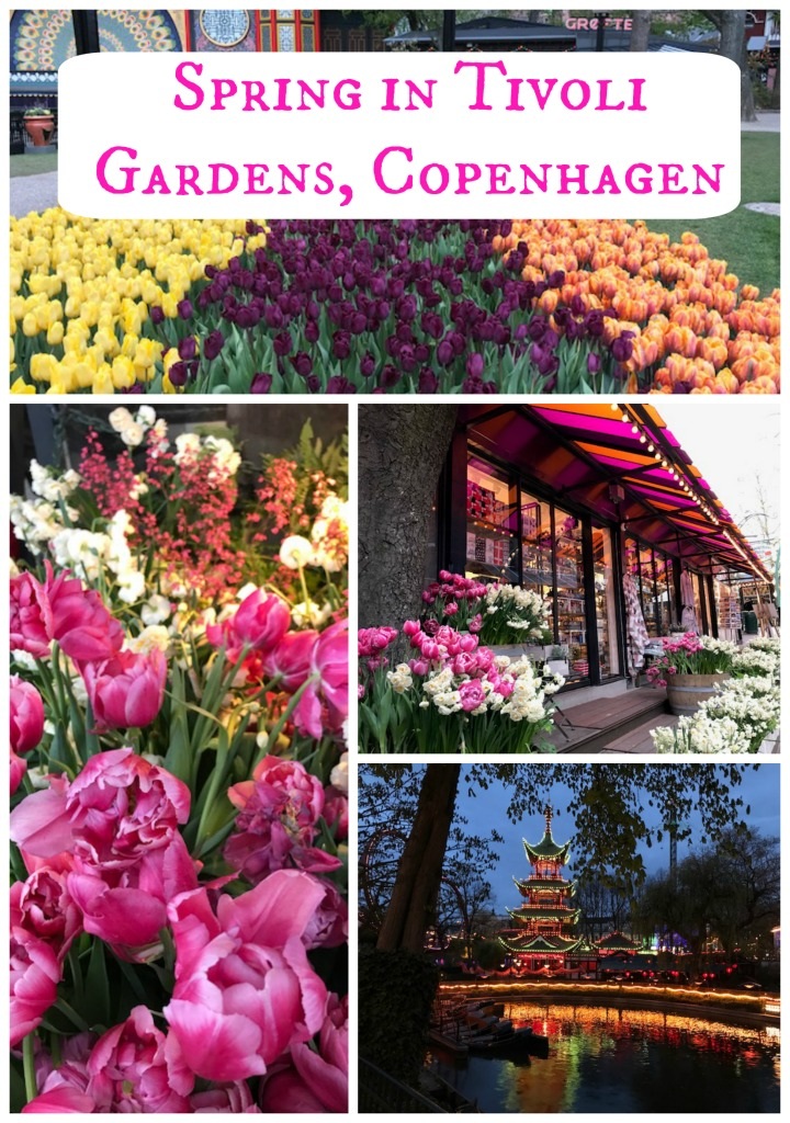 Thrilling amusement park rides in a historical garden setting. A perfect way to spend a spring day. Explore Copenhagen's Tivoli Gardens with The Daily Adventures of Me. #Denmark #Gardens #AmusementParks