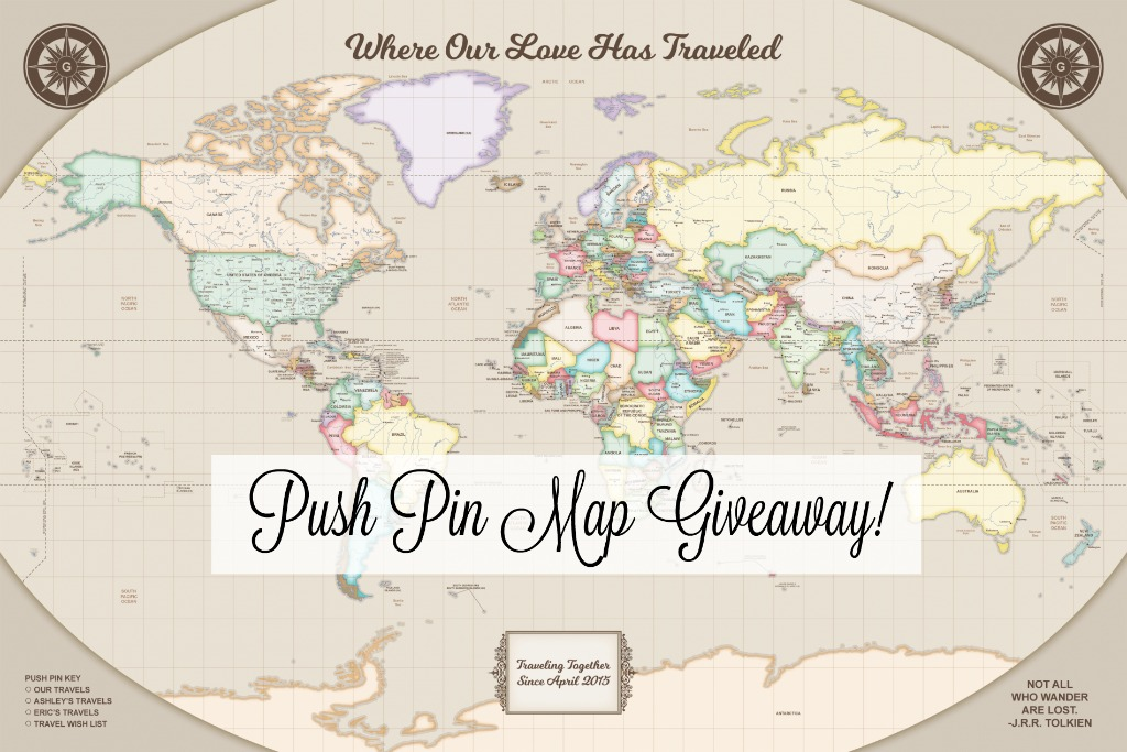 Push Pin Maps Giveaway!