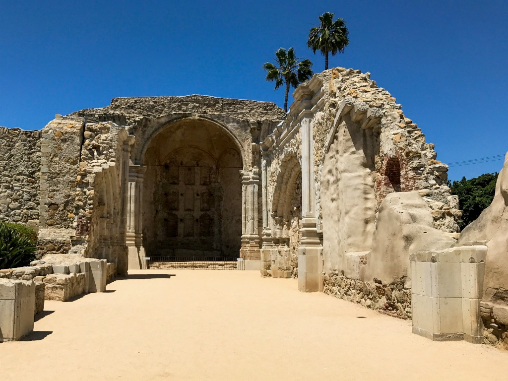 Ruins of the Great Stone Church, California.