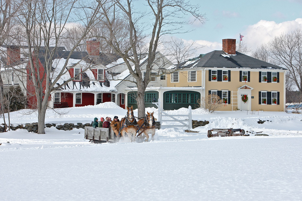 Where to sleigh ride in New England. Fun things to do in new england.