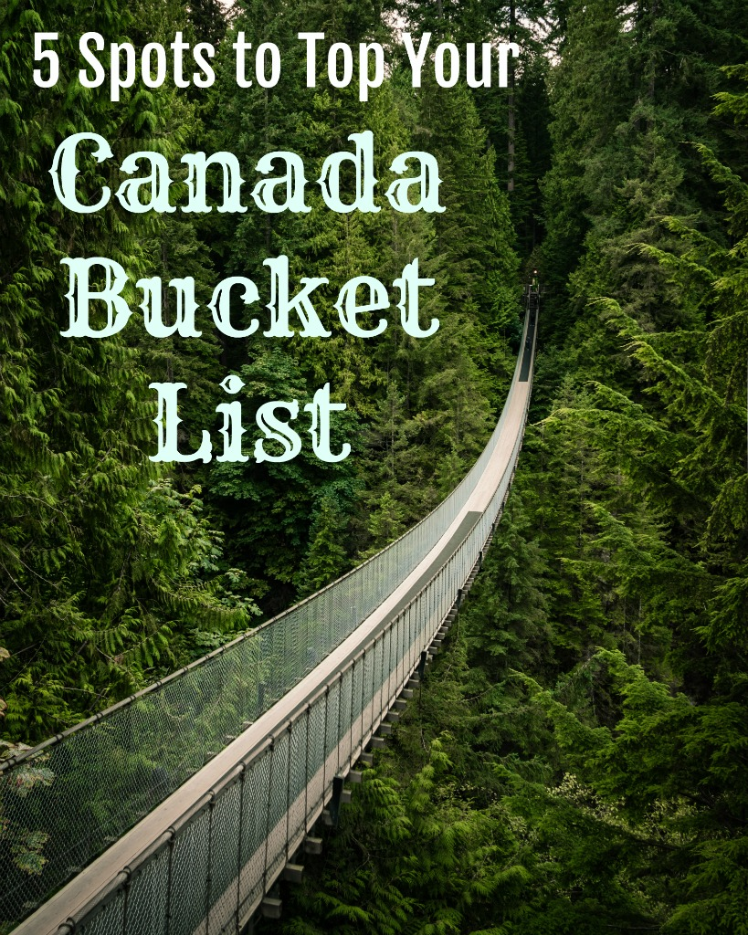 Canada is an incredible country with so much to offer. Read on for a few ideas that you will want to experience. #travel #TBIN #bucketlist #Canada #thingstodoinCanada
