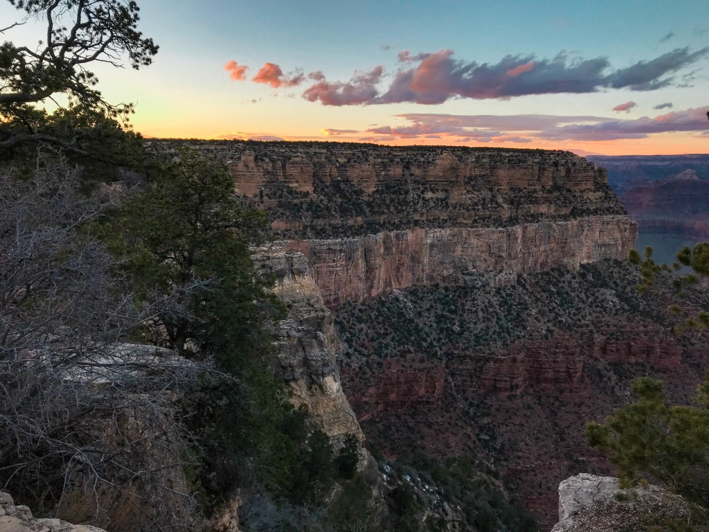 Best place to see the sunrise from the south rim of the Grand Canyon.