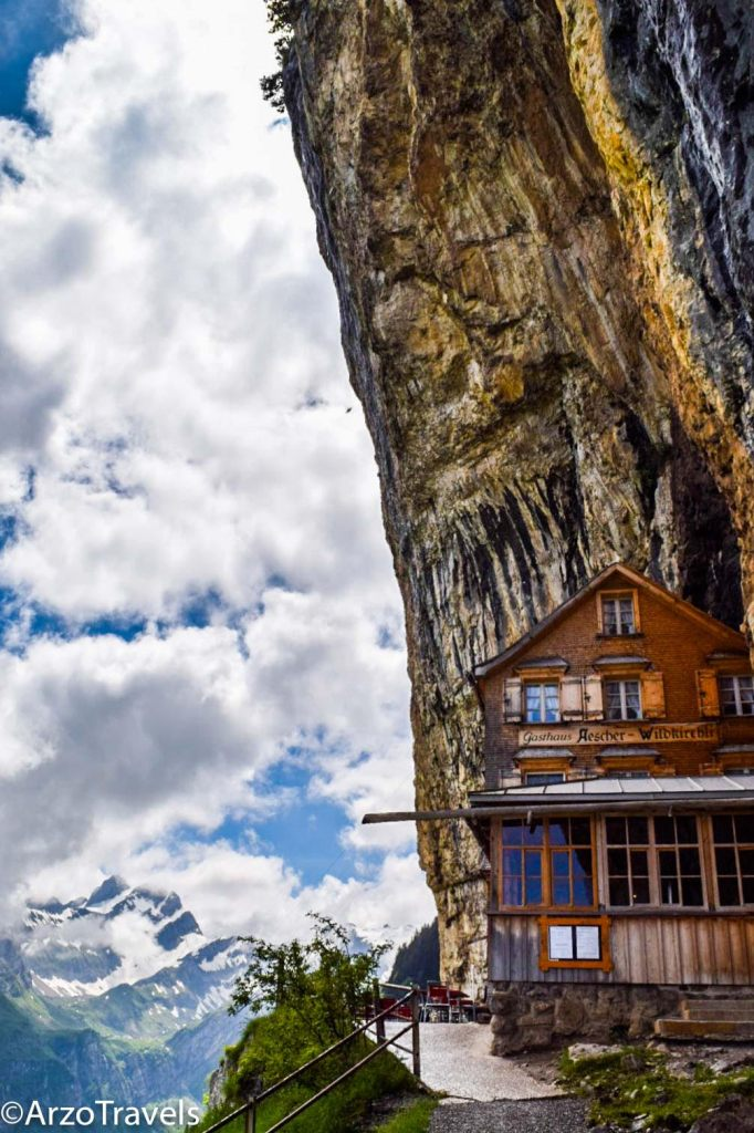 A hike to the Aescher cliff-house in Switzerland. #hiking #Switzerland #hikinginswitzerland #ttravel #crazyhikes