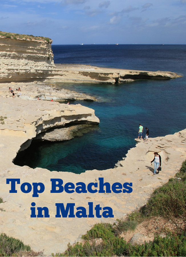Explore Malta's beaches, including this one, St. Peter's Pool, with local expat from Maltauncovered.com #besteuropeanbeaches #meditteranianbeaches