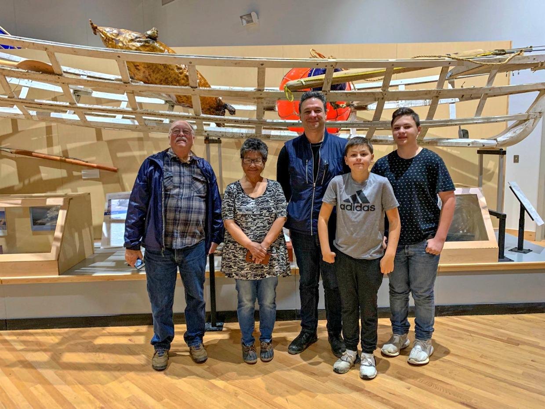 Family visit to Barrow, Alaska