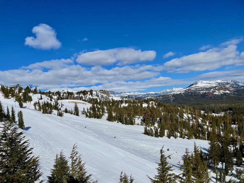 Skiing in the Eastern Sierra Mountains, California
