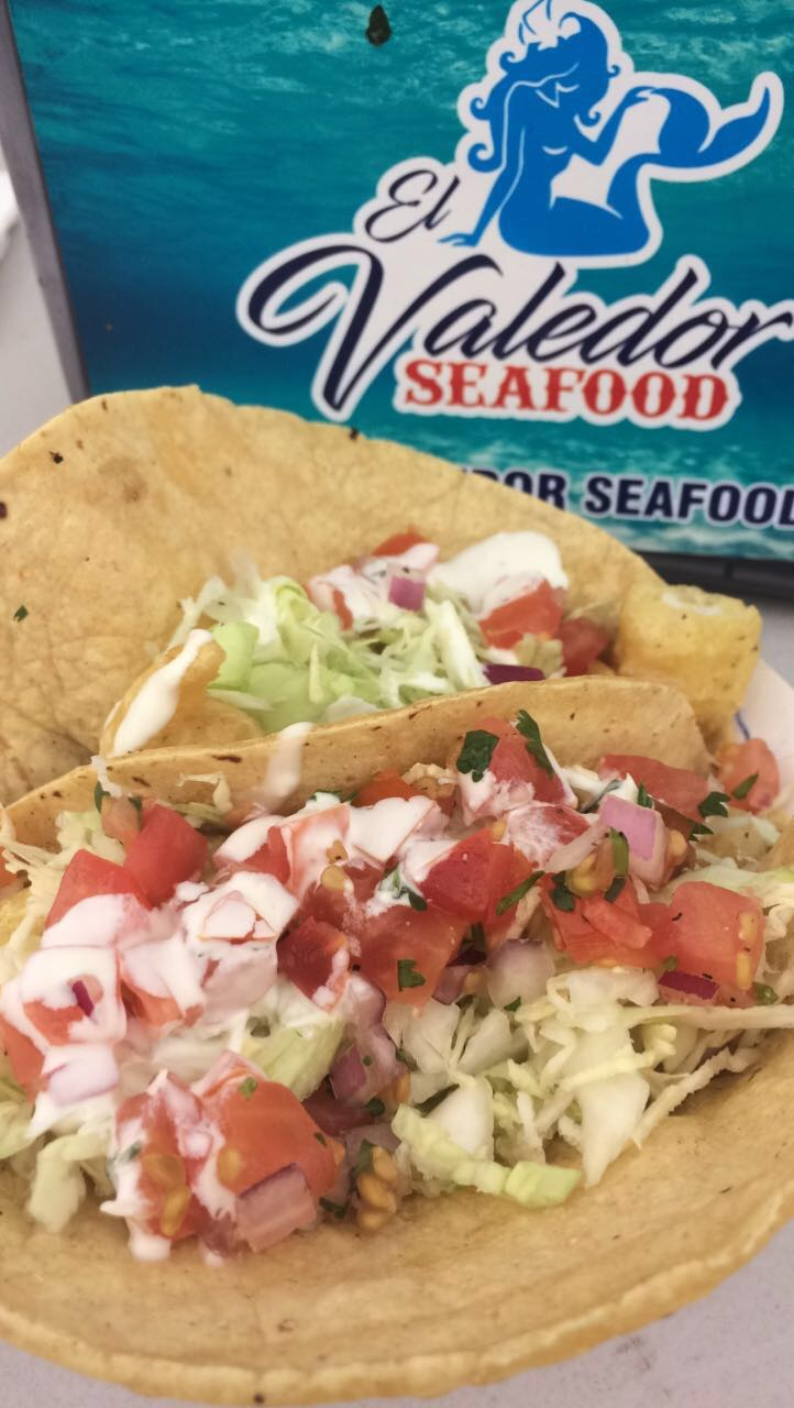 The fish taco is one of the most popular items on El Valdeor Seafood's menu.