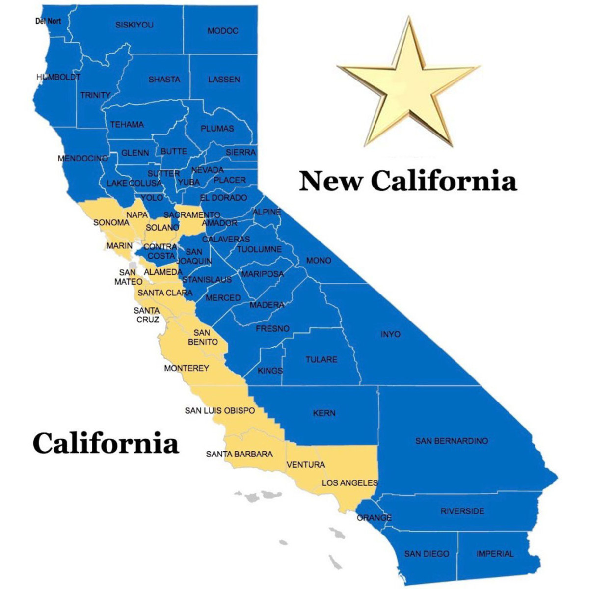 New California Movement Proposes To Split Golden State