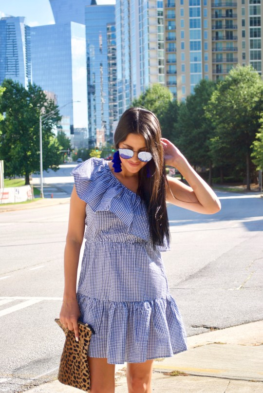 Ruffle Gingham Dress