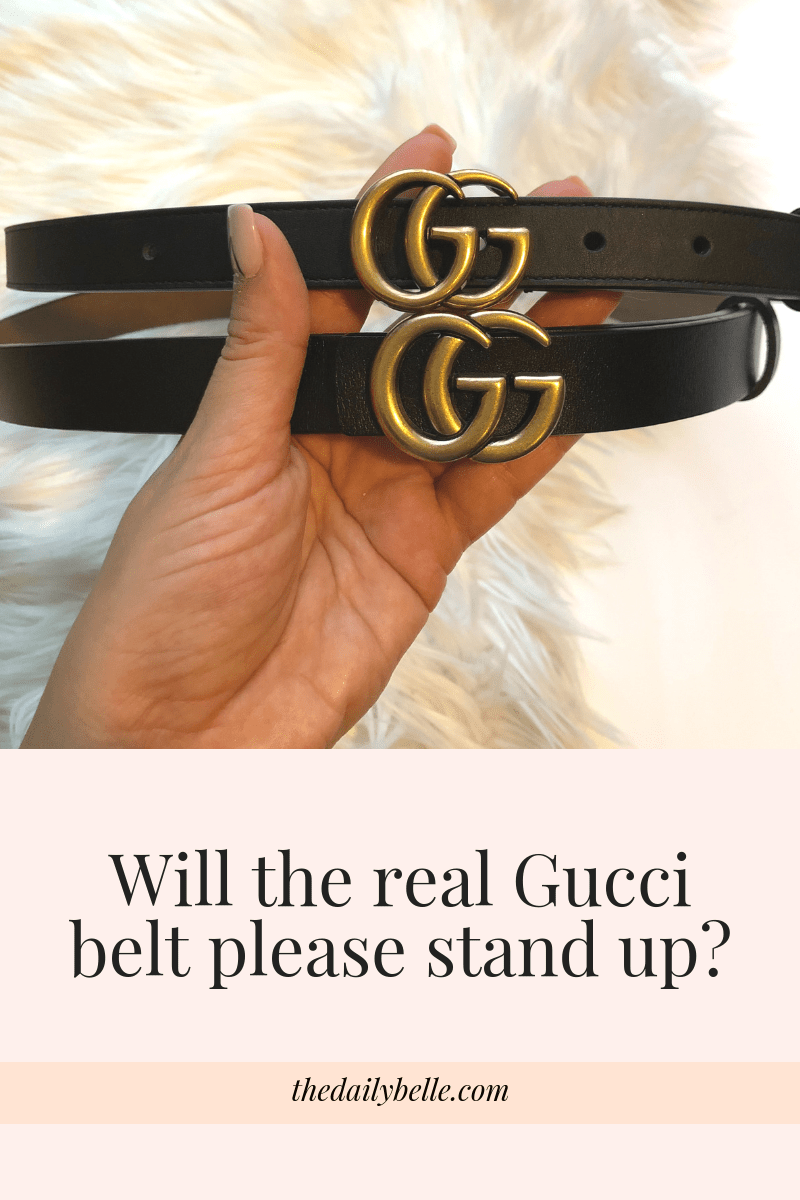 12 Ways To Tell If Your Gucci Belt Is Fake Her Closet Image >> The Difference Between The Real Gucci Belt And The Fake One The
