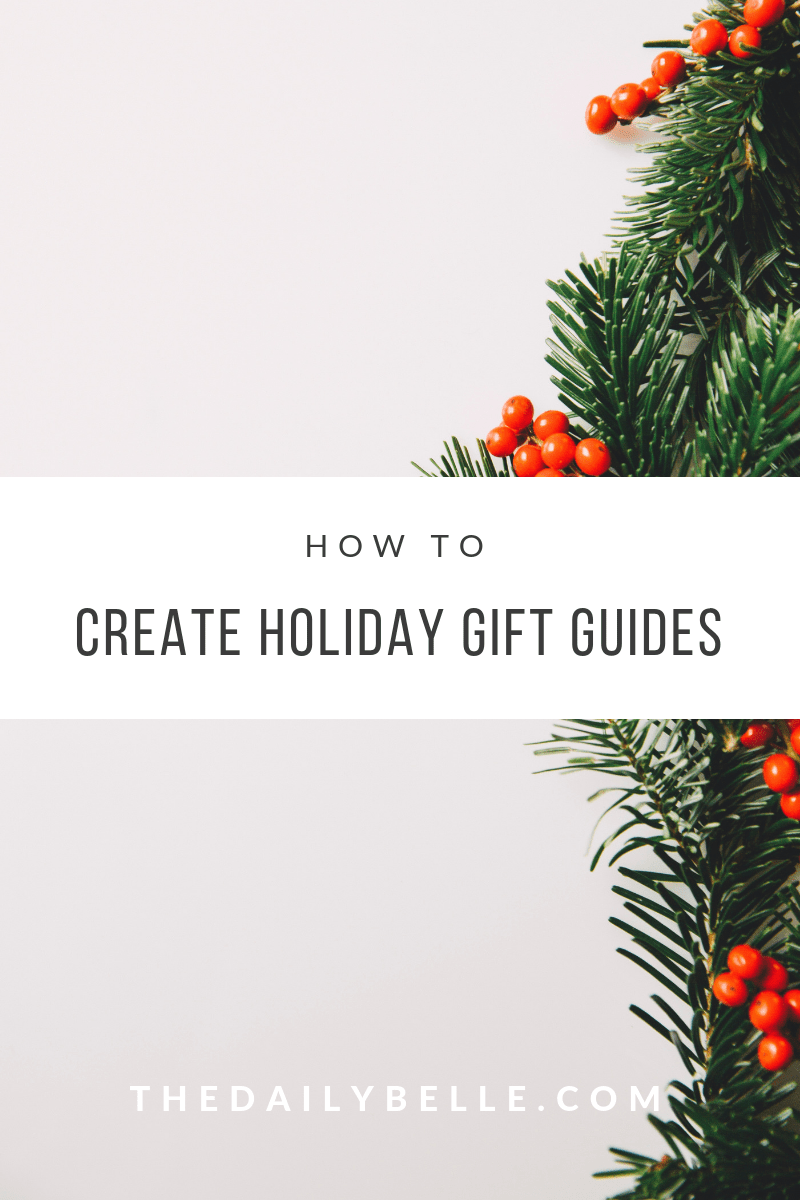 create holiday gift guides