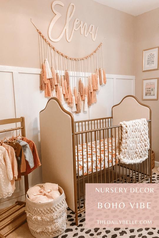 Baby Girl Nursery Reveal: Boho Parisian Chic