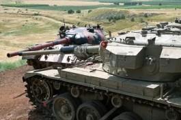 45927817-golan-heights-israel-may-27-2015-syrian-tank-t-55-and-israeli-tank-centurion-tank-memorial-valley-o
