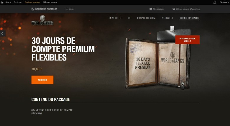World of Tanks: Flexible Premium Account