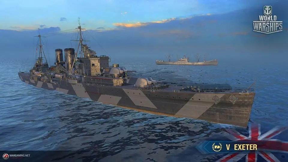 Supertest: British Tier V Cruiser Exeter