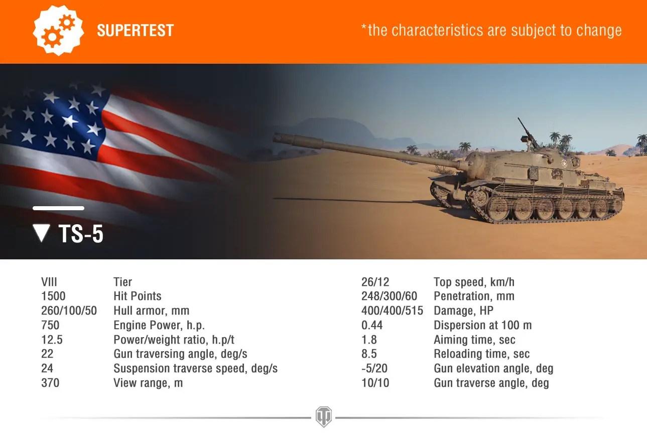 World of Tanks Supertest: TS-5 American Tank Destroyer