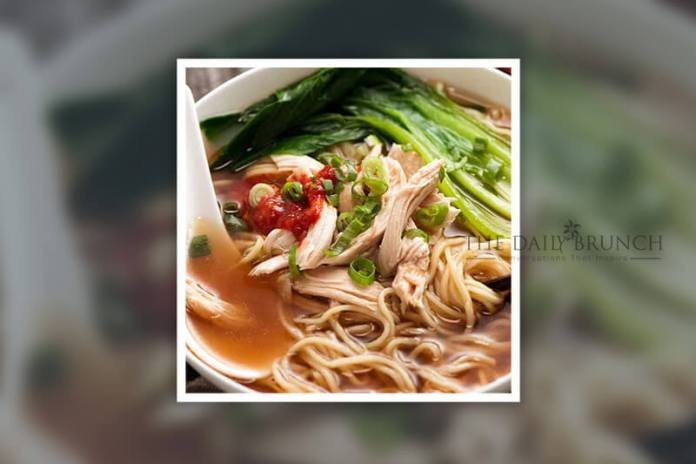 A Classic Chinese Chicken Noodle Soup